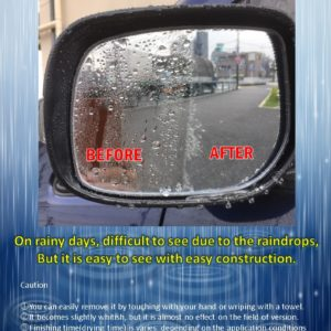 SUPER WATER REPELLENT MIRROR CLEAN – Water repellent for Side Mirror